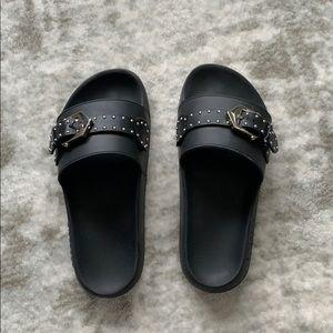 Givenchy Stud Embellished Buckle  Flat Slides